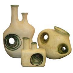 Stunning Retro Studio Ceramic Vases France, circa 1960