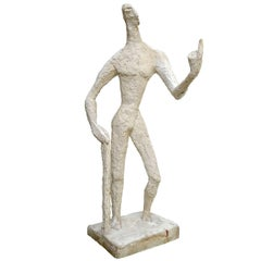 """I Show You!"" Large Plaster Figure by Jeannine Nathan"