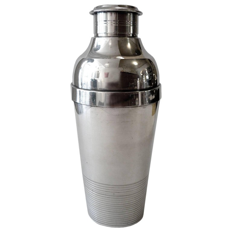 Art Deco Cocktail Shaker by Christofle Gallia For Sale