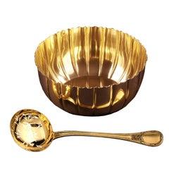 Puiforcat Sterling Silver Vermeil Sugar Sifter Spoon and a Sugar Bowl in a Box