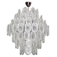Crystal Glass European Mid-Century Modern Impressive Chandelier
