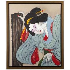 Yujo Geisha, Oil on Canvas, France, 2010