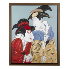 Japanese Couple, Oil on Canvas, France, 2010
