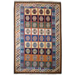Vintage large Kilim Rug with Natural Dyes