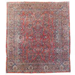 Antique Sarough Persian Rug
