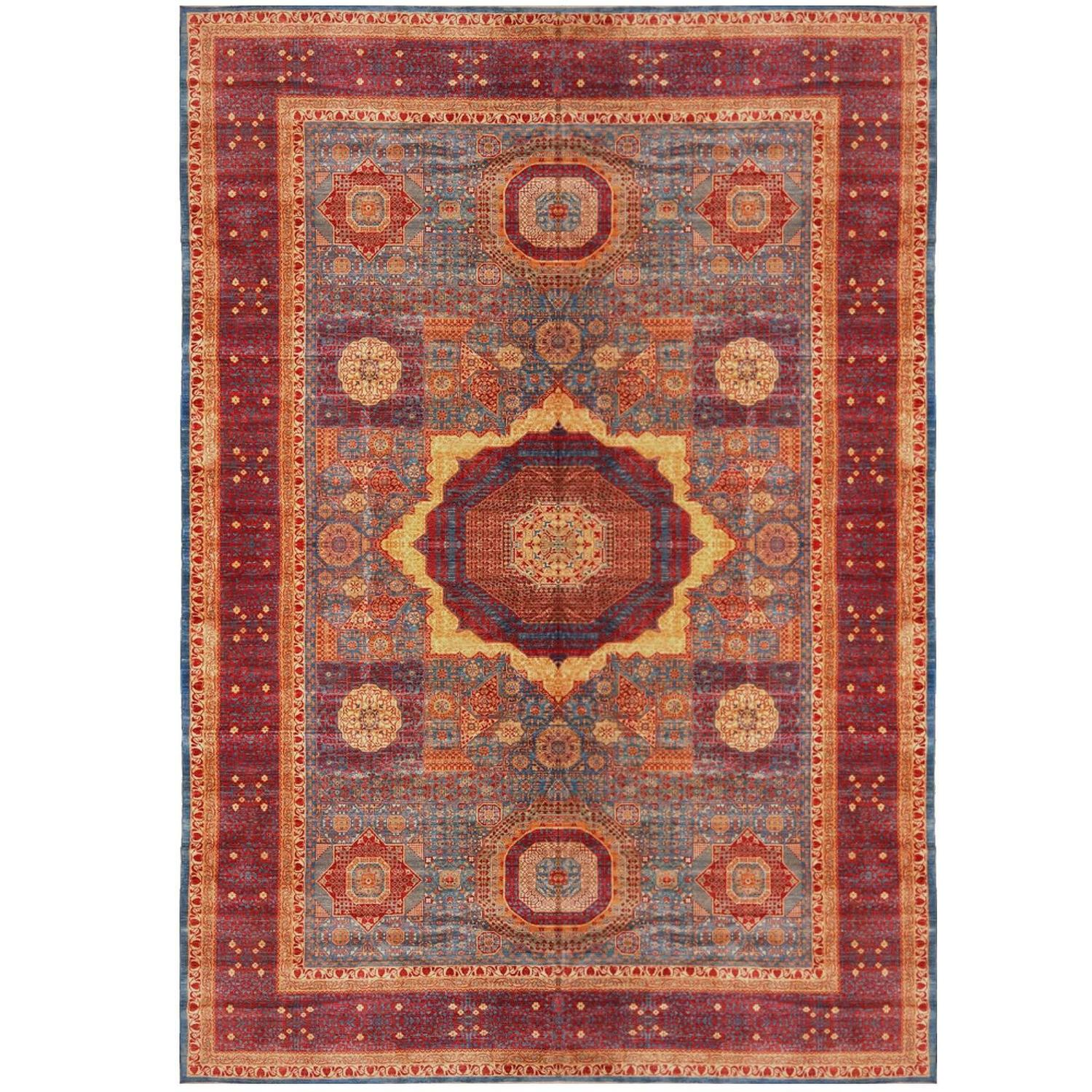 Very Large Mamluk Hand Knotted Rug For Sale At 1stdibs