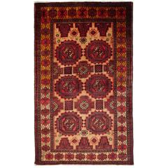 Mid-Century Turkman Baluch Rug