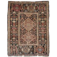 Amazing 19th Century Senneh Antique Rug Fragment