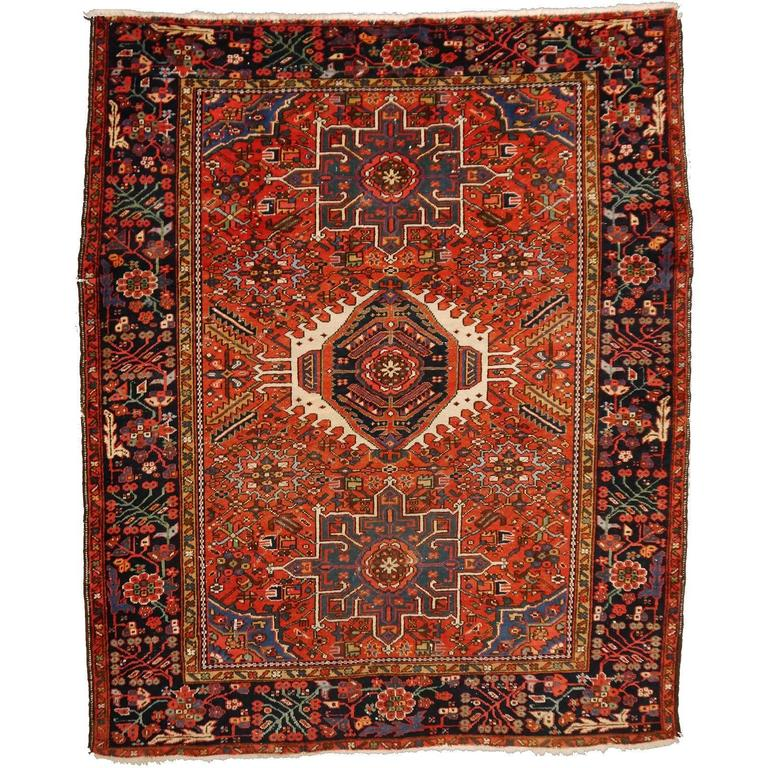 Heriz Karaja Semi Antique Persian Rug For Sale