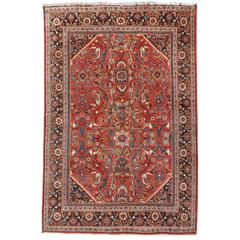 Antique Sultanabad Mahal Persian Rug