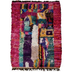 North African Tribal Khozema Rug Modern Moroccan Design