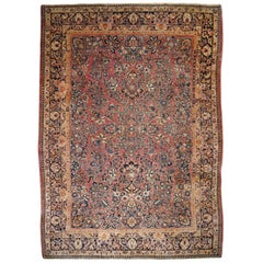 Sarouk Persian Rug Early 20th Century Classic Antique Carpet