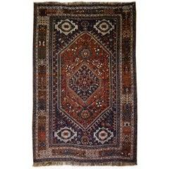 Antique Tribal Qashqai Nomadic Carpet Large Size