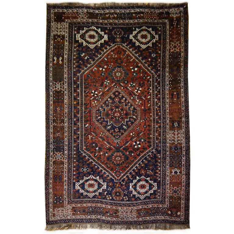 Antique Tribal Nomadic Carpet Large Size For Sale