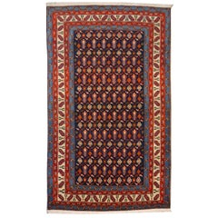Shirvan Vintage Rug Azerbeijan Blue Beige Orange Purple Midcentury