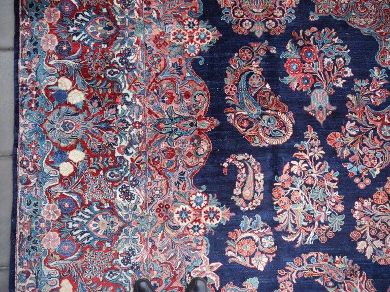 Persian Antique Oversize Sarouk Oriental Rug For Sale
