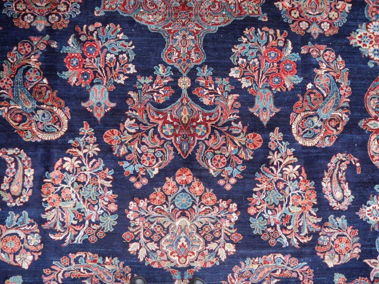 Hand-Knotted Antique Oversize Sarouk Oriental Rug For Sale
