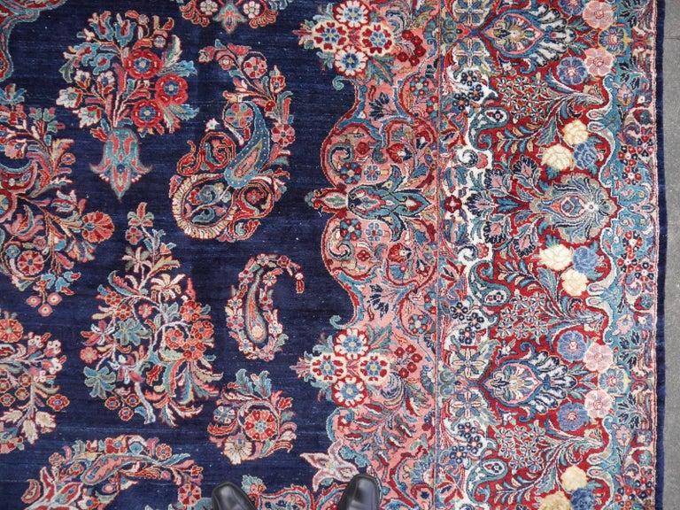 Antique Oversize Sarouk Oriental Rug In Excellent Condition For Sale In Lohr, Bavaria, DE