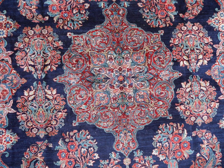 Wool Antique Oversize Sarouk Oriental Rug For Sale