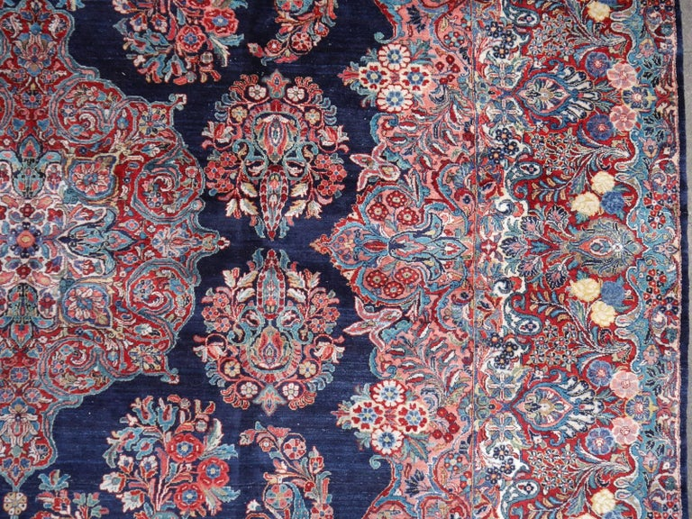 Antique Oversize Sarouk Oriental Rug For Sale 1