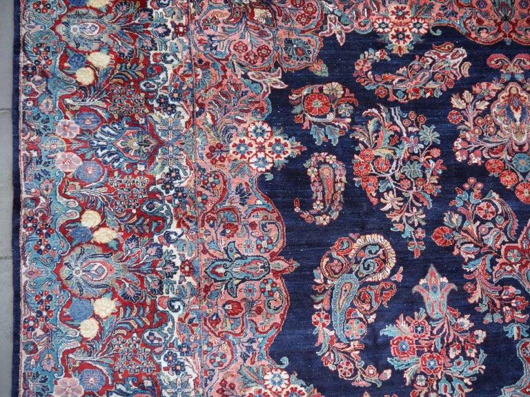 Antique Oversize Sarouk Oriental Rug For Sale 2