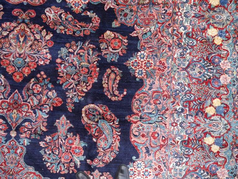 Antique Oversize Sarouk Oriental Rug For Sale 4