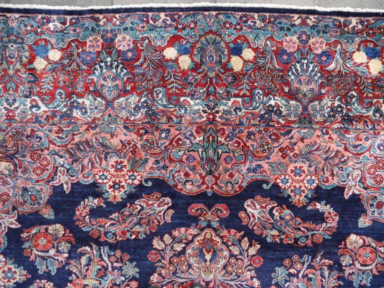 Antique Oversize Sarouk Oriental Rug For Sale 6