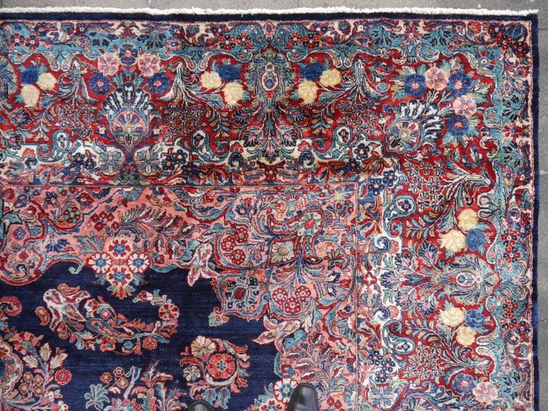 Antique Oversize Sarouk Oriental Rug For Sale 7