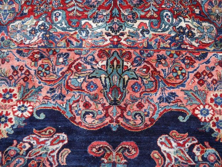 Antique Oversize Sarouk Oriental Rug For Sale 8
