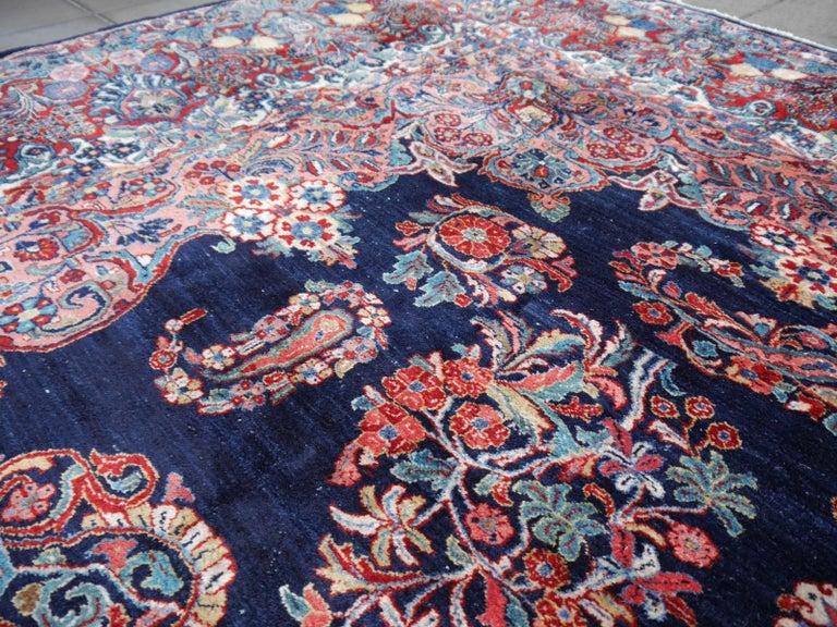 Antique Oversize Sarouk Oriental Rug For Sale 9
