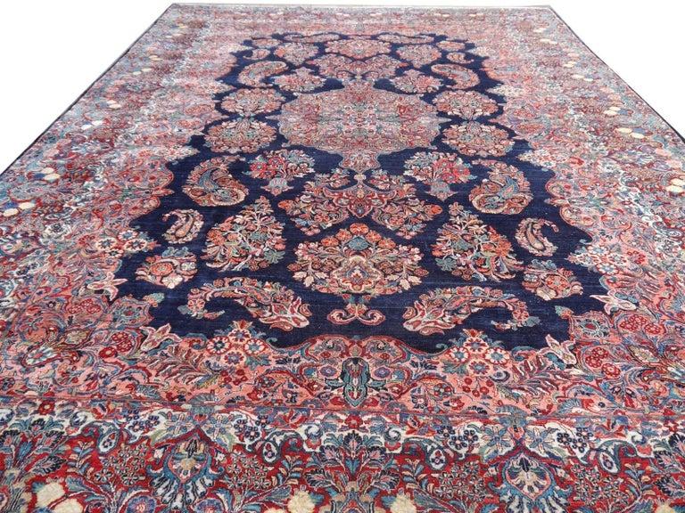 Antique Oversize Sarouk Oriental Rug For Sale 10