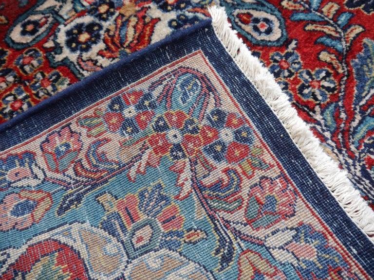 Antique Oversize Sarouk Oriental Rug For Sale 11