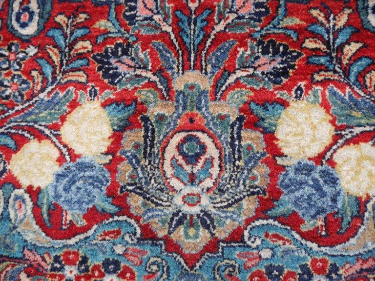 Antique Oversize Sarouk Oriental Rug For Sale 12