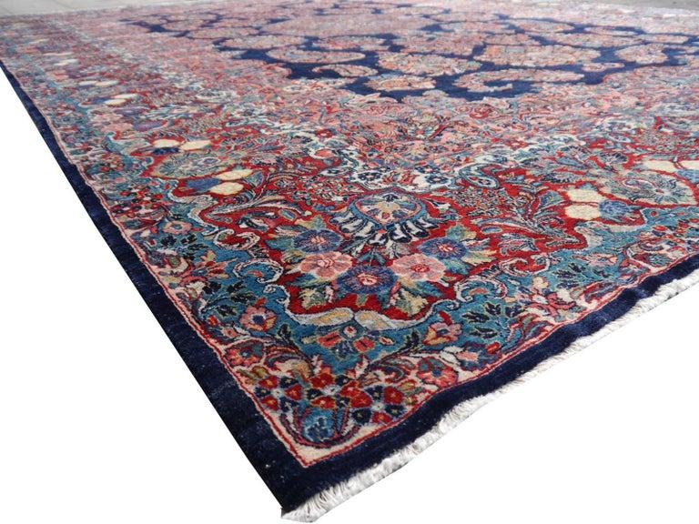 Antique Oversize Sarouk Oriental Rug For Sale 13