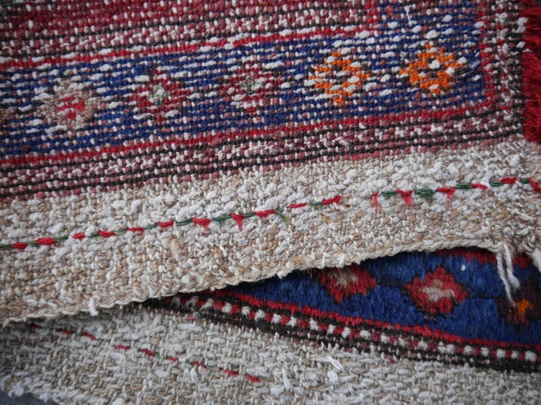 Kazak Shirvan Caucasian Vintage Carpet with Vibrant Colors Red Blue Orange Green For Sale