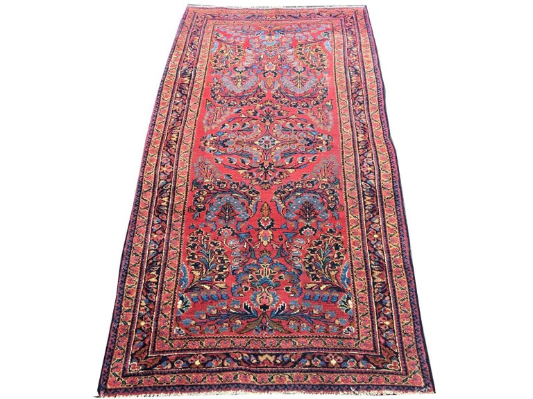 A fine and hand-knotted Lilihan rug in good condition. It has good pile condition, is soft and has a beautiful luster - a perfect interior design rug. Localized lower pile.