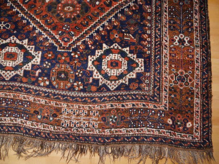 Persian Antique Tribal Nomadic Carpet Large Size For Sale