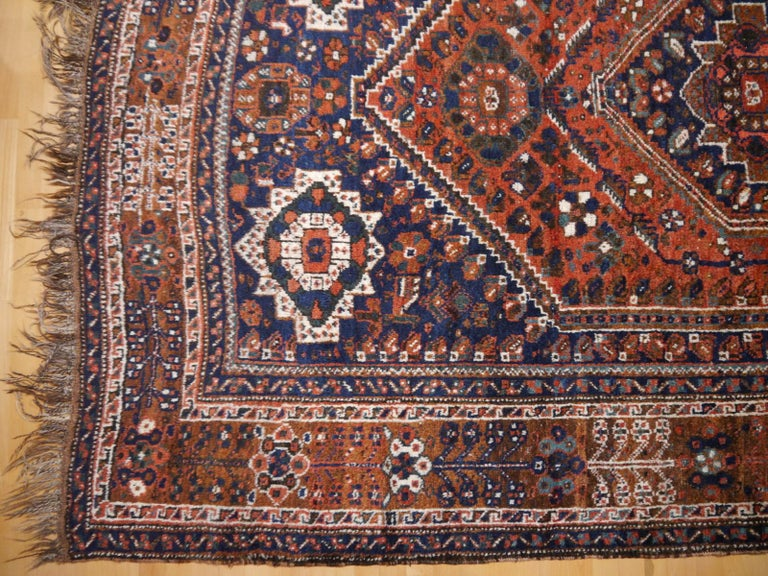 Wool Antique Tribal Nomadic Carpet Large Size For Sale