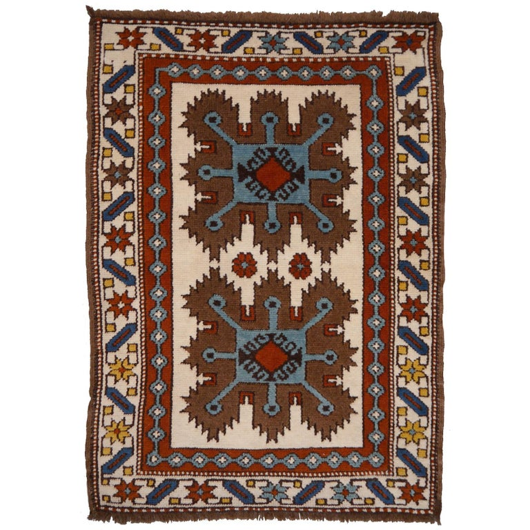 Vintage Turkish Rug Kazak Style For Sale