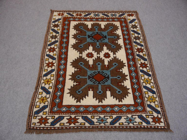 Tribal Vintage Turkish Rug Kazak Style For Sale