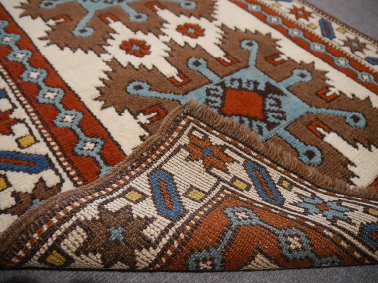 Vintage Turkish Rug Kazak Style For Sale 1