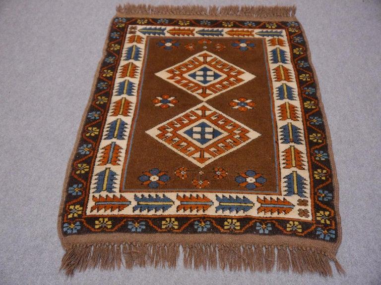 Tribal Vintage Turkish Rug Kazak Style For Sale