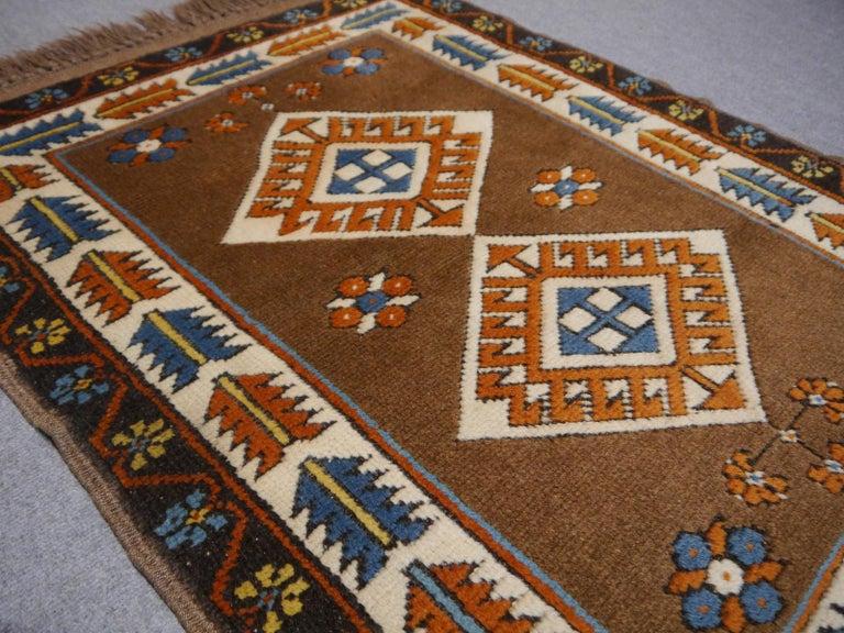 Vintage Turkish Rug Kazak Style In Good Condition For Sale In Lohr, Bavaria, DE
