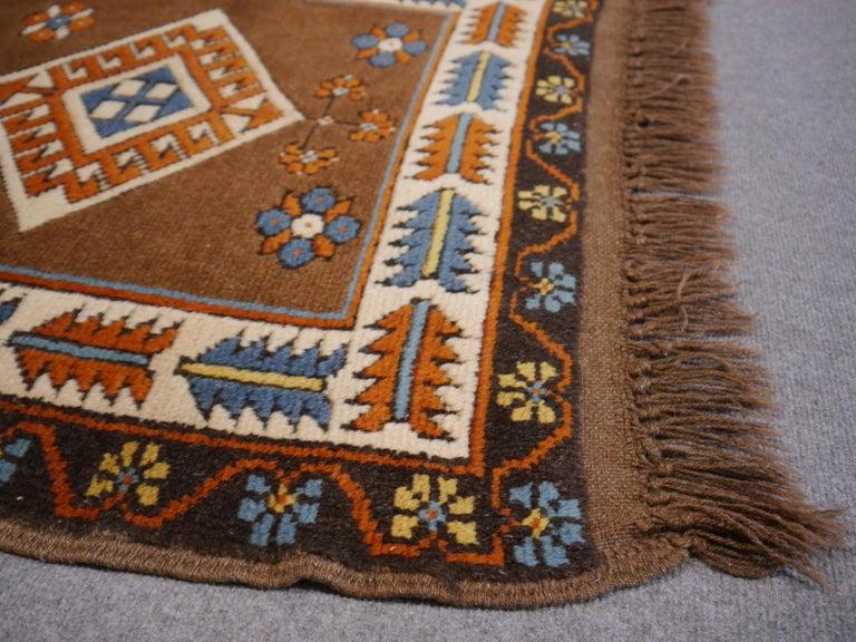 20th Century Vintage Turkish Rug Kazak Style For Sale