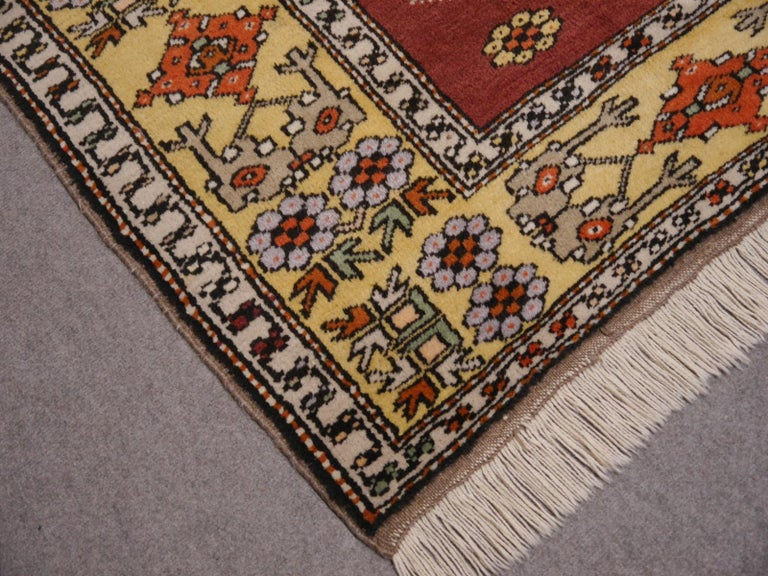 Tribal Vintage Turkish Rug Hand-Knotted For Sale