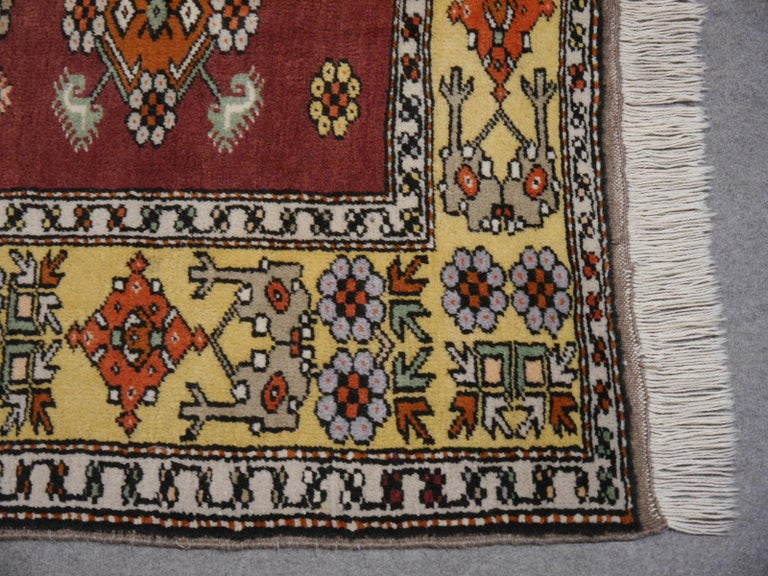 20th Century Vintage Turkish Rug Hand-Knotted For Sale