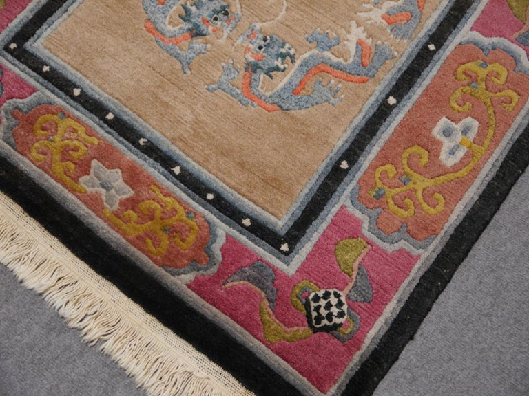 Hand-Knotted Tibetan Yoga Khaden Meditation Rug For Sale