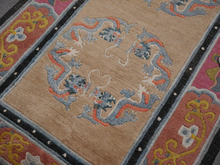 Tibetan Yoga Khaden Meditation Rug In Excellent Condition For Sale In Lohr, Bavaria, DE