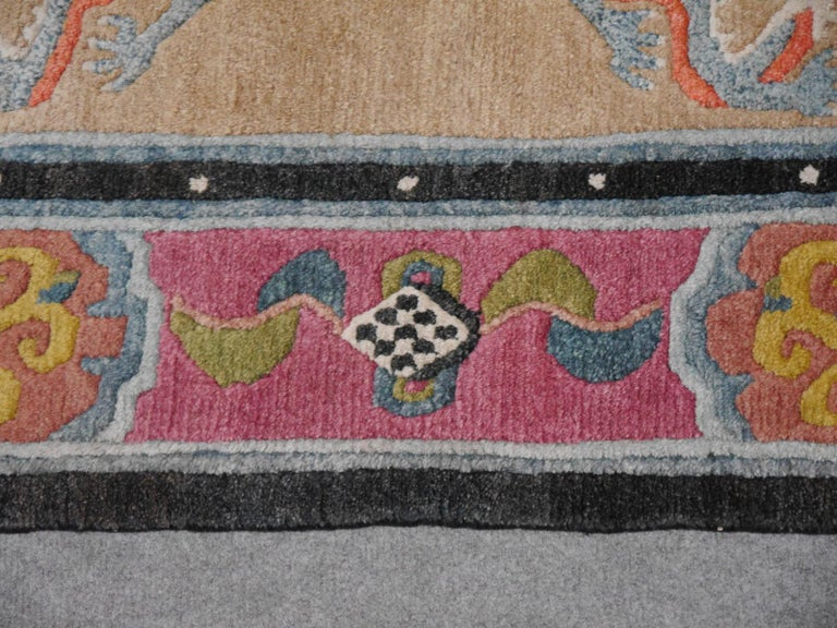 Late 20th Century Tibetan Yoga Khaden Meditation Rug For Sale