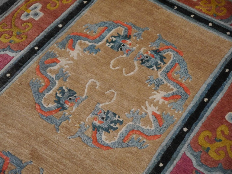 Wool Tibetan Yoga Khaden Meditation Rug For Sale